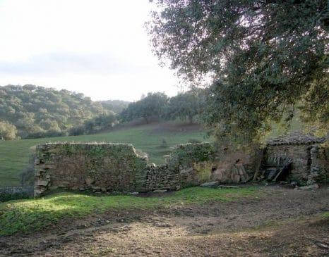 Antiguo cortijo con muros de piedra