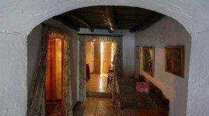 Casa con vigas de madera