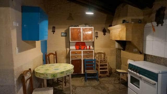 Cocina rústica de la casa en venta