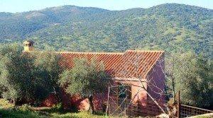 Terreno con casa de campo en Cañaveral de León (Huelva)