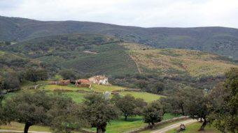Cortijo semiderruido de la finca en la sierra de Aracena