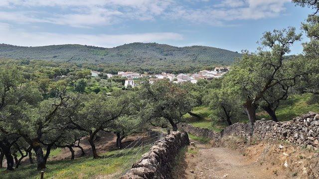 Camino con vistas a La Umbría