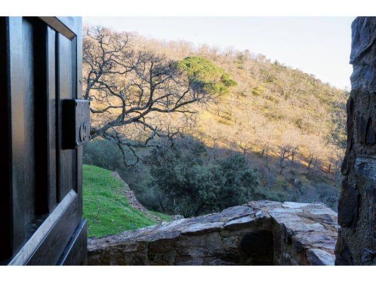 Vistas de la sierra de Aracena desde la casa en venta