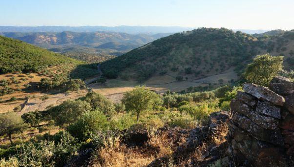 Finca pequeña con casa de aperos en Arroyomolinos, sierra de Aracena